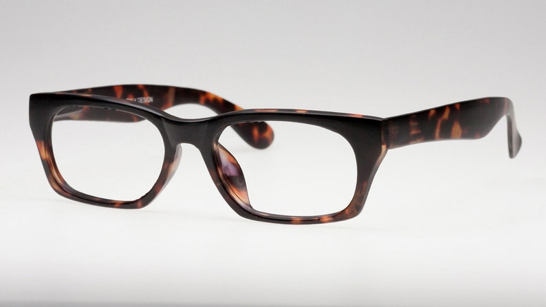 6d95f5a790 Matte tortoise rectangular reading glasses or eyeglasses