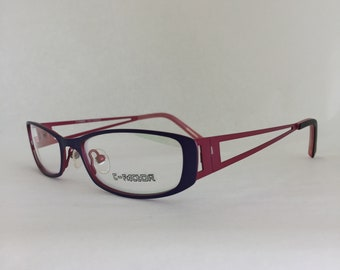 Women's Purple and Pink Reading Glasses, Matte Finish Metal Frame Glasses, Readers Glasses, Eyeglass Frames, Women's Eyeglasses