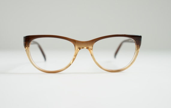 b3dec0af961 Items similar to Brown Gold Cateye Reading Glasses for Women