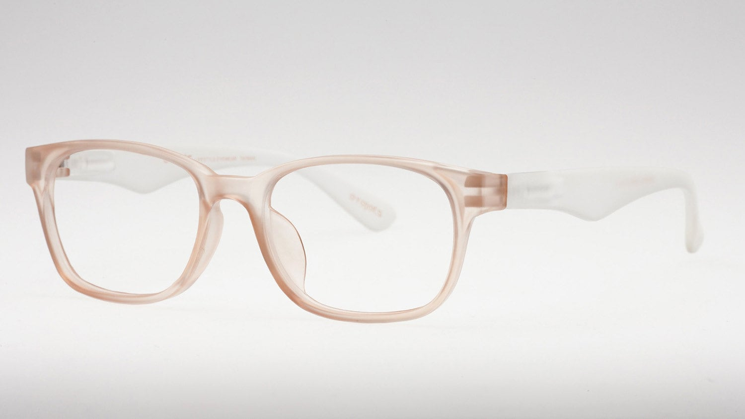 4f10e32458 Nude Reading Glasses Clear Frame Glasses Wayfarer Glasses