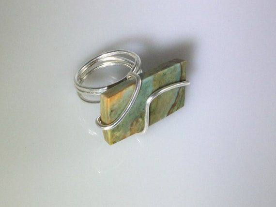 Jasper Stone Totem ring