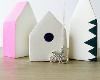 Sterling Silver, Bicycle Necklace, Bike Necklace, Sterling Silver Bike, Necklace, Bike Lover, Bicycle Jewelry, Biker Gift, Athletic Jewelry