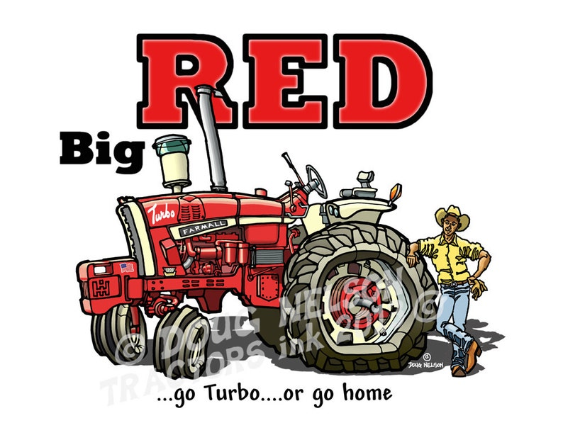 Farmall 1206 Traktor Cartoon 85 X 11farbdruck Etsy