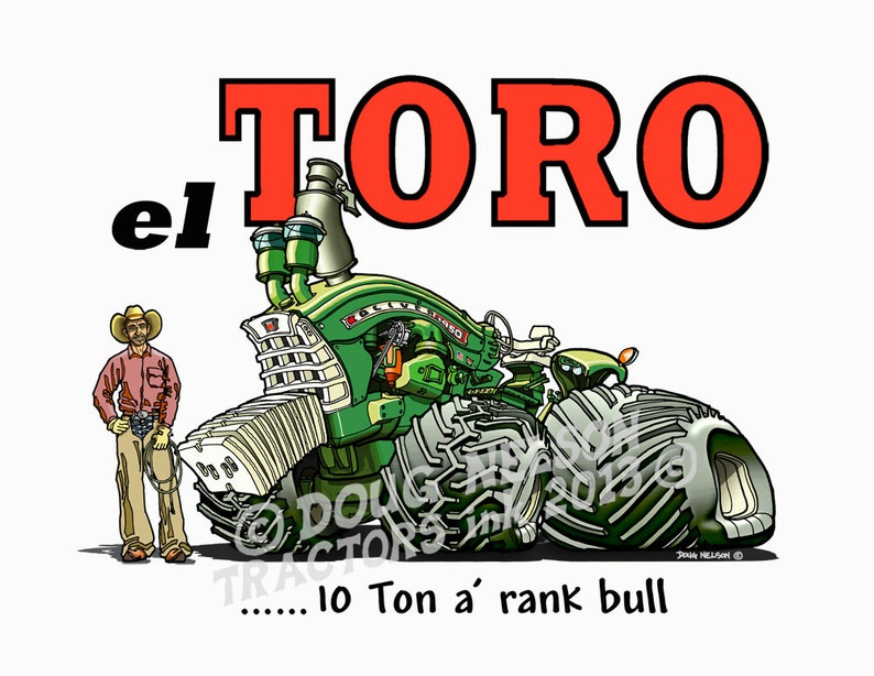 Oliver 1950 Traktor Cartoon 85 X 11farbdruck Etsy