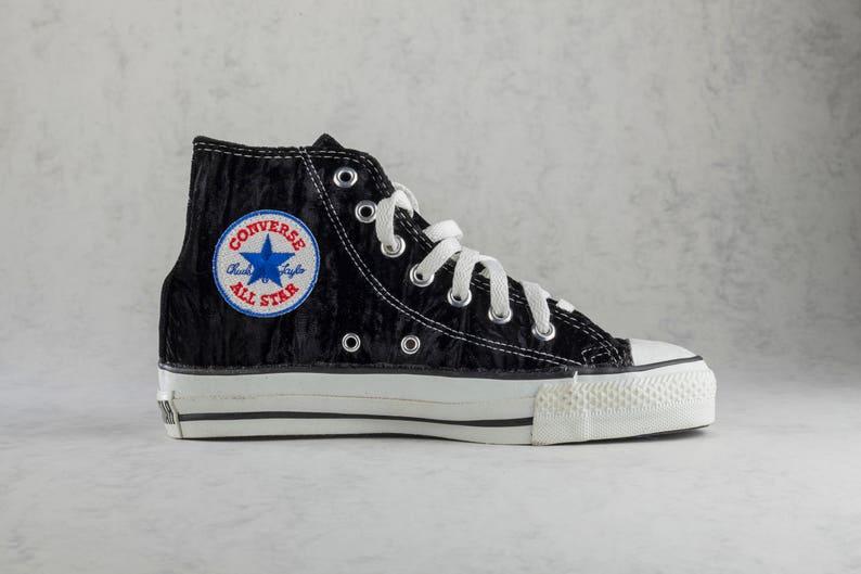 Details zu Converse All Star Chucks high Leder Schwarz Gr 37,5 UK 5 Vintage look