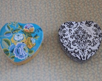 Brighton Heart Tins - Individually Priced - Available As Set w/ Reduced Costs - Adorable Bright Colors - Jewelry Box - Gift Box - Hearts