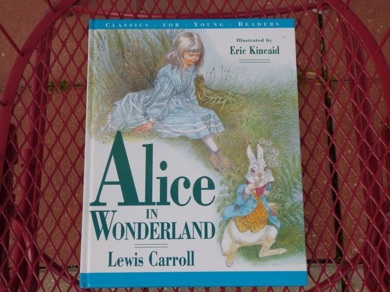 Complete Alice in Wonderland Sealed Color Illustrated Collectible Gift Hardback Antyki i Sztuka