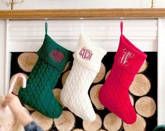 popular items for monogrammed christmas stockings