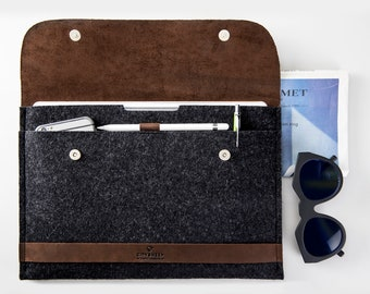 "NEW MacBook Pro 13"" case Leather MacBook case MacBook leather sleeve cover Laptop case Laptop sleeve MacBook retina 100% natural wool felt"