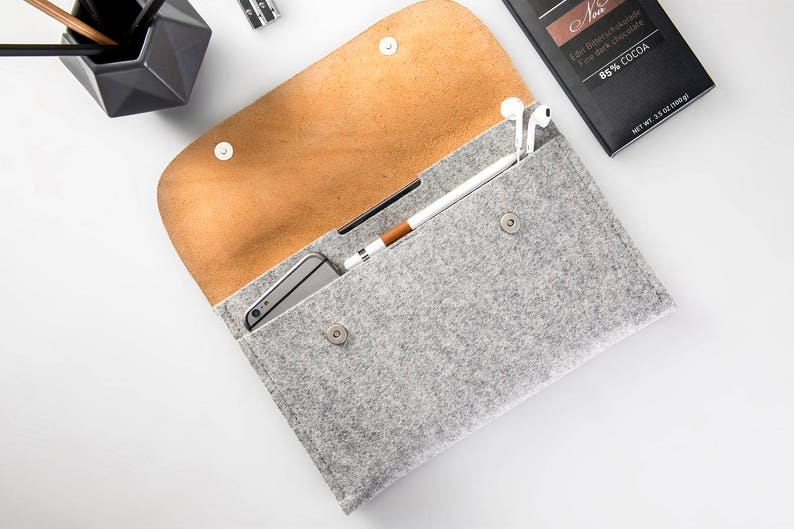 huge discount f24e4 2b17e iPad 9.7 inch case iPad Pro 11 leather iPad Pro 10.5 case iPad Pro 9.7  sleeve iPad cover apple pencil holder 100% wool felt genuine leather