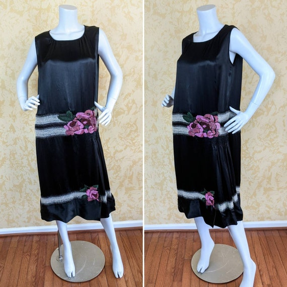 Authentic 1920's Beaded Flapper Dress - Volup