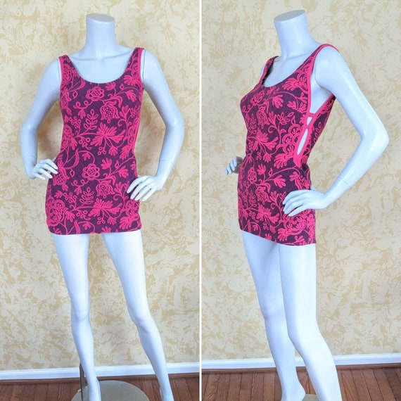 """1970's """"Catalina"""" Swimsuit w/ Cut-outs"""