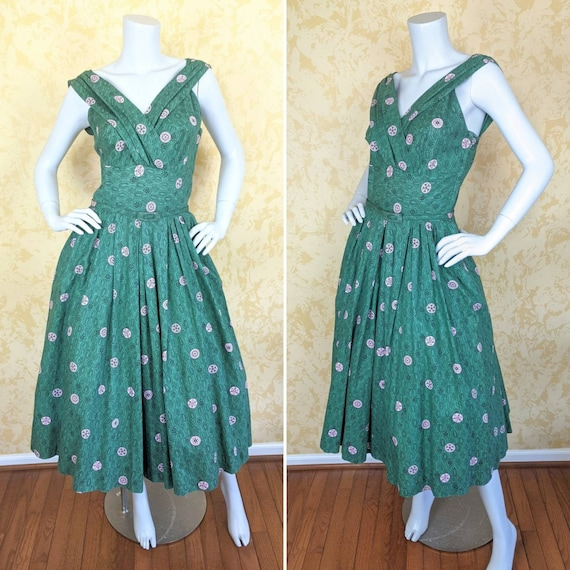 1950's Cotton Print Sundress