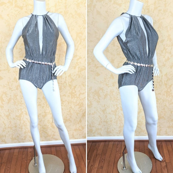 """Sexy 1990's """"Catalina"""" Lurex Bathing Suit"""