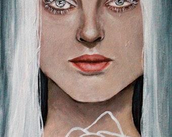 Snow White Fairytale/Fantasy Portrait - Acrylic Painting