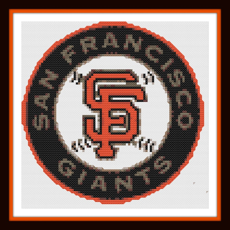 image about Dmc Floss Color Chart Printable named San Francisco Giants Emblem - Colour Chart - DMC Floss Chart - Sporting activities Sequence- Merely Print and Begin Sching!