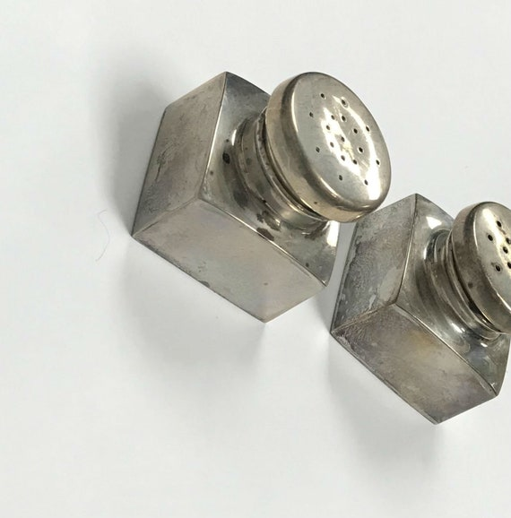Antique Salt & Pepper Shaker- Sterling Silver - image 2