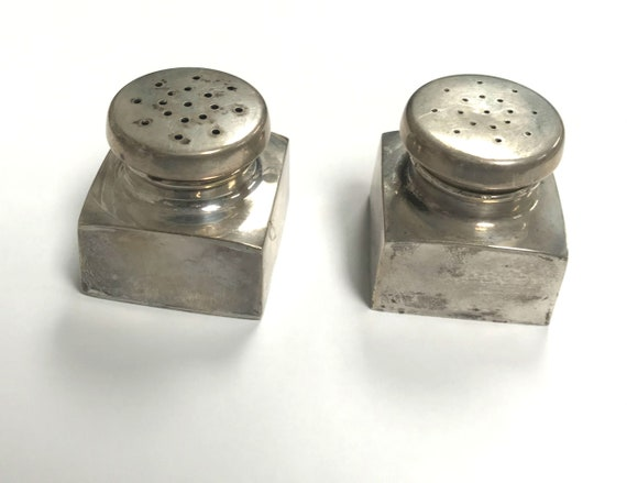 Antique Salt & Pepper Shaker- Sterling Silver - image 1