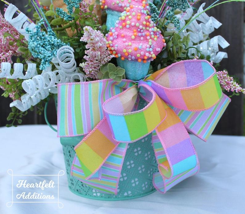 Tabletop Decor Everyday Art Summer Floral Summer Centerpiece Cupcake Centerpiece Cupcake Party Whimsical Centerpiece