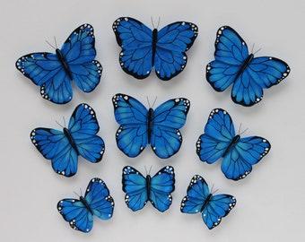 Butterfly wall art; 3d butterfly wall decor; Butterfly wall decor: Butterfly wall decals; Nursery butterflies; Butterfly decoration; Blue