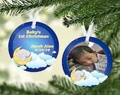 Baby S 1st Christmas Ornament Elephant Christmas Ornament Baby Boy Ornaments Baby S 1st Christmas Ornament Newborn Christmas Ornament