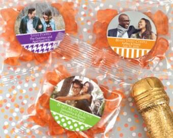 Gummy Bear Favors Set of 24 -Gummy Bear Candy - Wedding Favors - Graduation Favors - Baby Shower Favors - Custom Party Favors