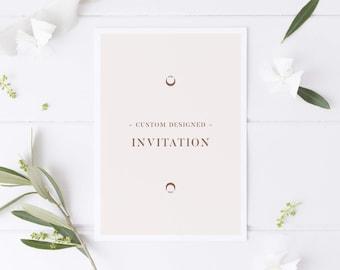 Custom Invitation Design, Bespoke Invitation Design for Any Celebration Shower or Party, Printable or Digital Custom Invitations (PDF/JPG)
