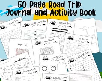 The Best Road Trip Journal and Activity Book for Kids | 50 pages | Printable | Instant Download