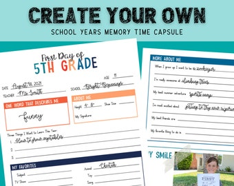 The Best First Day of School Interview | All Grades Time Capsule Bundle | Questionnaire | Printable | Instant Download