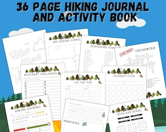 The Best Hiking Journal and Activity Book for Kids | 36 pages | Printable | Instant Download