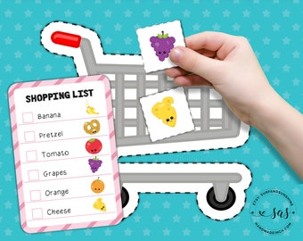 Grocery Store Shopping Game | Toddler Busy Book Activity | Printable | Instant Download