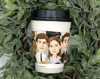 The Office TV Show Tea & Coffee Sleeve, Cup Cozy, Reversible, Reusable