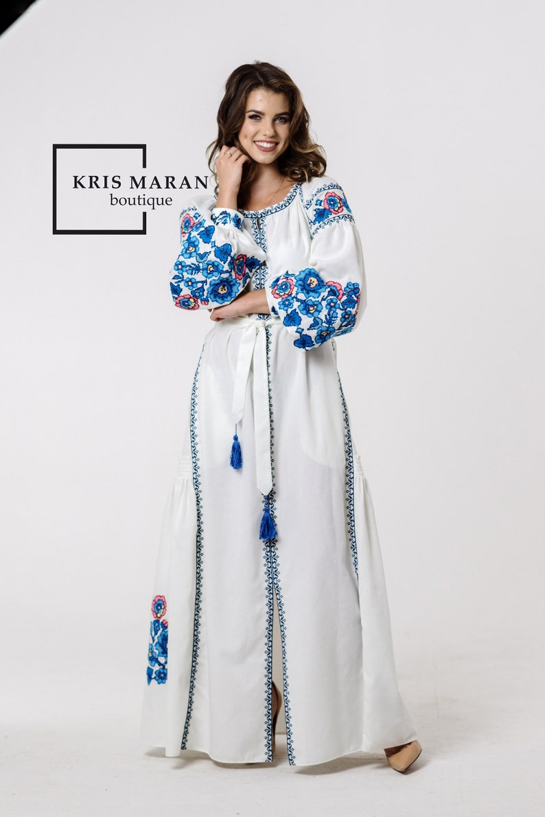 Chwalebne Ukraińska suknia ślubna Boho suknia ślubna haftowana suknia | Etsy AN63