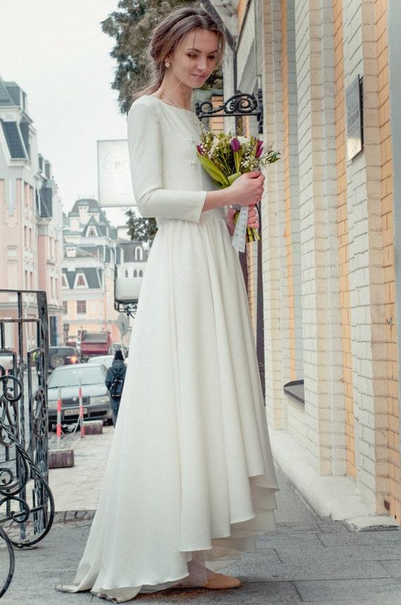 Sale Designer Wedding Dress Bohemian Wedding Dress Vera Wang Classic Wedding Dress Long Dress White Dress Beach Wedding Gorgeous