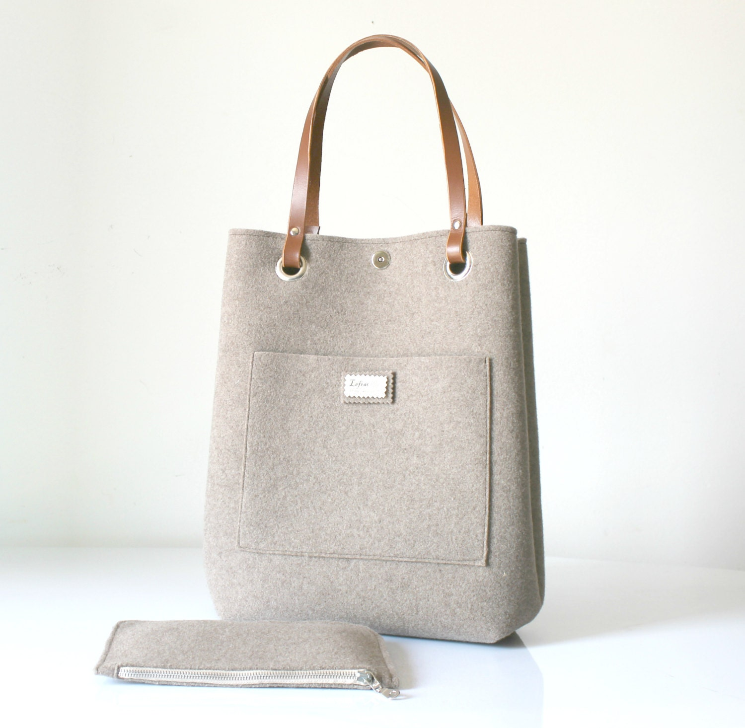 dc55cdf648c Leather Tote Large tote Everyday tote bag Casual tote   Etsy