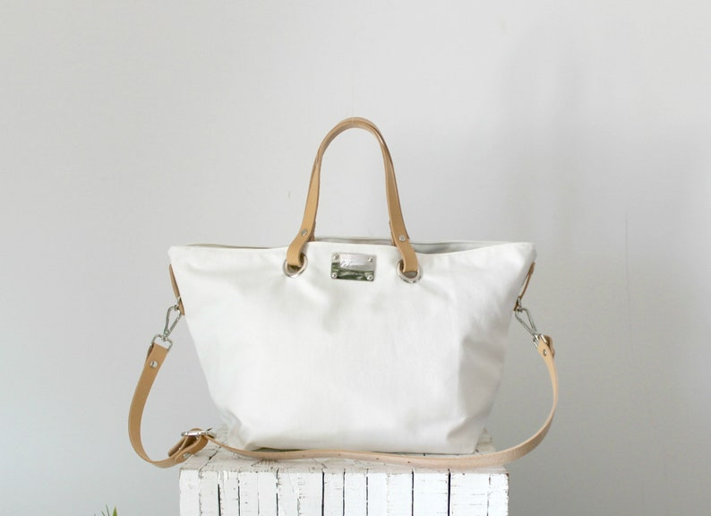 Simple Tote Canvas Summer Bag LeatherEtsy New 9IEHYD2W