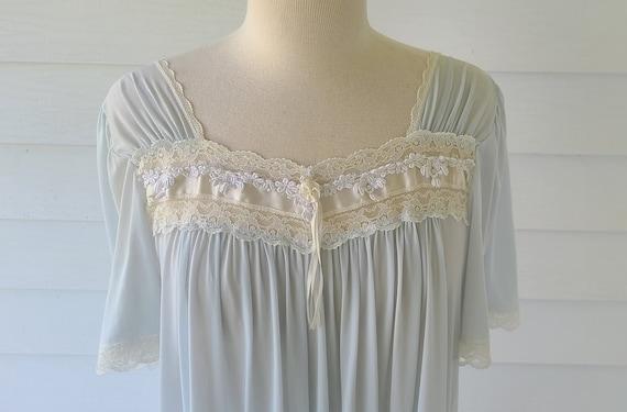 Vintage Blue Nightgown Miss Elaine