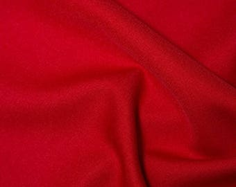 """Red - Polyester Twill Plain Fabric 150cm (59"""") Wide Dressmaking Material"""