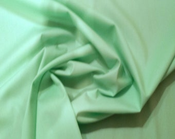 "Pistachio Green - 100% Cotton Poplin Dress Fabric Material - Plain Solid Colours - Metre/Half - 44"" (112cm) wide"