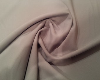 "Light Grey - Polyester Bi-Stretch Panama Suiting Dress Fabric - 147cm (58"") Wide"