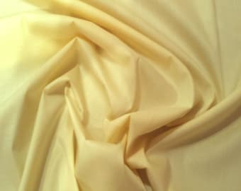 "Lemon Yellow - 100% Cotton Poplin Dress Fabric Material - Plain Solid Colours - Metre/Half - 44"" (112cm) wide"