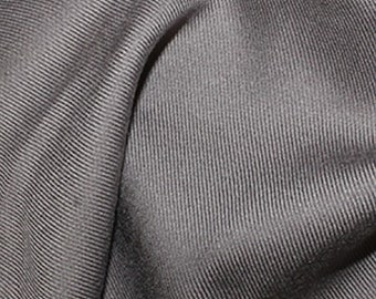 "Silver Grey - Plain Viscose Twill Dress Fabric Material - per Metre/Half - 55"" (140cm) wide"