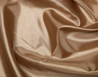 "Nude Habotai 'Silk' Lining Fabric Polyester Material 145cm (57"") Wide"