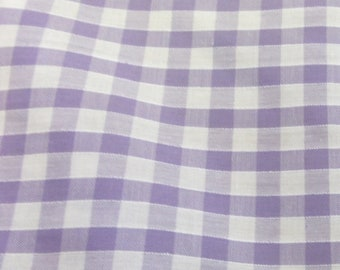 Lilac - Corded Gingham - Quarter Inch Check - Dress Fabric Material - Metre/Half - 44 inches (112cm) wide