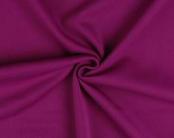 "Magenta Purple - Plain Scuba Bodycon Jersey Stretch Fabric Material -160cm (63"") wide"