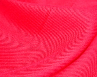 "Fuchsia Pink - Needlecord Cotton Corduroy 21 Wale Fabric Material - 140cm (55"") wide"