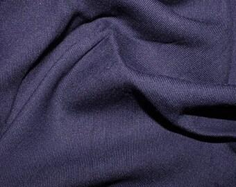 "Marine Blue - Plain Viscose Twill Dress Fabric Material - per Metre/Half - 55"" (140cm) wide"
