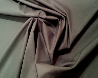 "Grey - 100% Cotton Poplin Dress Fabric Material - Plain Solid Colours - Metre/Half - 44"" (112cm) wide"