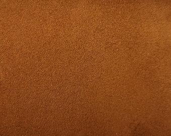 "Tan Brown - Scuba Faux Suede Stretch Fabric 100% Polyester Material -147cm (58"") wide"
