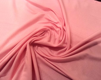"""Pink - 100% Cotton Jersey Knit Fabric - T-Shirt, Stretch Material - 160cm (62"""") wide"""